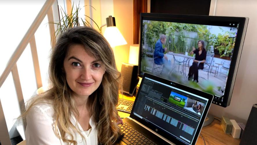 """Marlène Loubière : """"Pendant  le  montage, l'émission prend véritablement forme . C'est un travail de fourmi."""""""