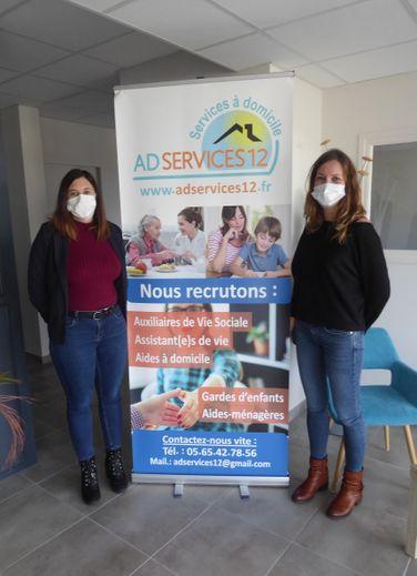 Amandine Echeverria et Marion Chantereau dans les nouveaux locaux.