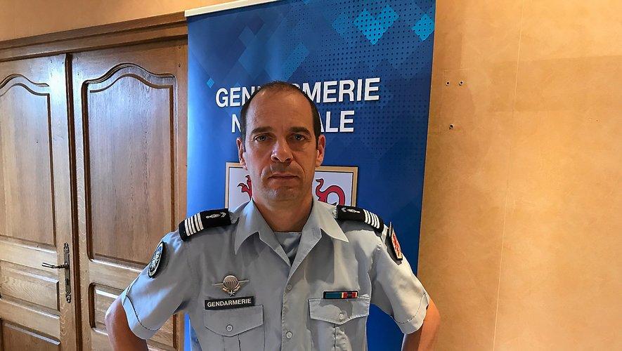 Le colonel Yann Fagard, commandant du groupement de gendarmerie de l'Aveyron.