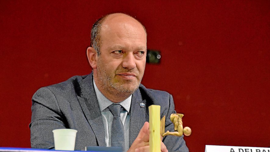 Arnaud Delpal, président sortant du District de l'Aveyron.