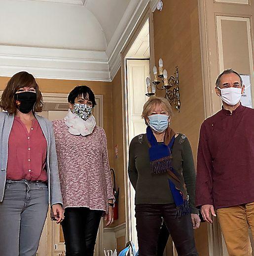 Emmanuelle Gazel, Nadine Tuffery, Silva Ricard et Nicolas Wohrel.