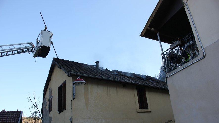 La toiture notamment a été détruite.