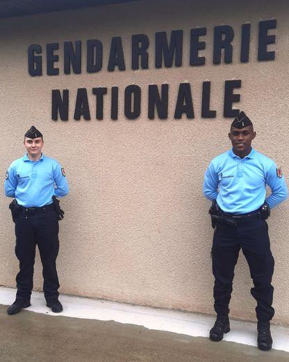 Théo Beaussieu et Mehdi Fribourg viennent d'intégrer la brigade de gendarmerie de Ste-Geneviève-sur- Argence.
