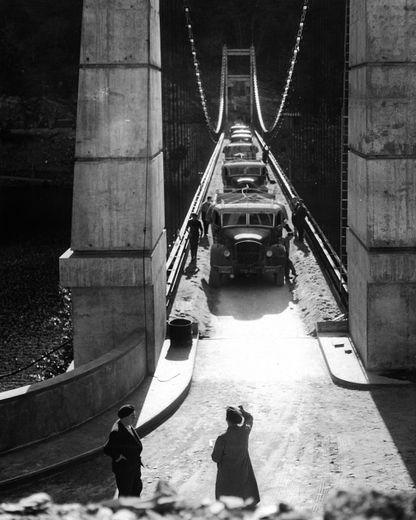 Test de charges sur le pont