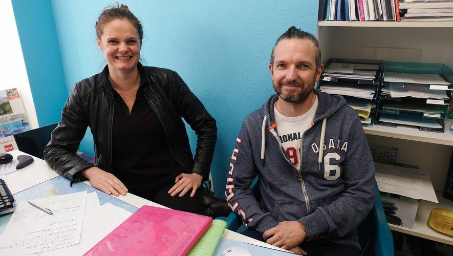 Mylène Villard et Pierre Mahauden ne sont plus que deux au sein de l'agence de voyage. A. C.