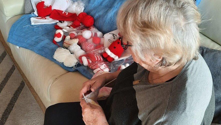 Tricotage pour le decor de Noel