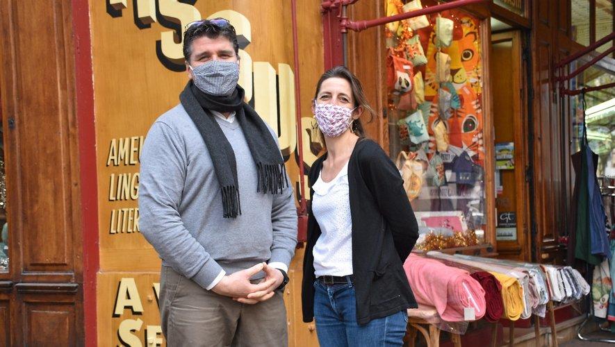 André-Guilhem et Ségolène Tufféry espèrent voir le retour de la joie, notamment dans les commerces.