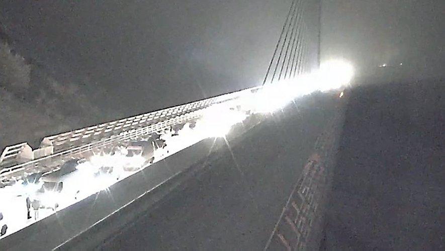 La traversée du Larzac est l'un des points noirs de l'épisode neigeux.