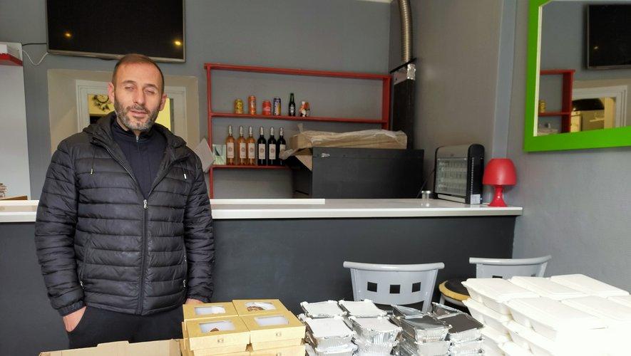 Repas offerts par M. Salesse, restaurateur à Aguessac.