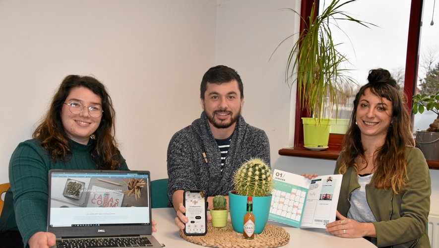 Cindy Regourd (23 ans, communication opérationnelle et stratégique), Sébastien Terral (25 ans, consultant et formateur en web marketing) et Marie-Sophie Brouzes (29 ans, studio de création) ont mis en commun leurs compétences, leur énergie et leurs réseaux pour donner naissance à Tabascomm'.