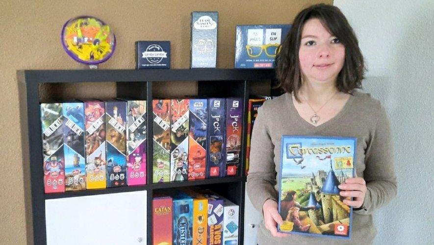 Justine a déjà près de 40 jeux à louer dans sa collection.