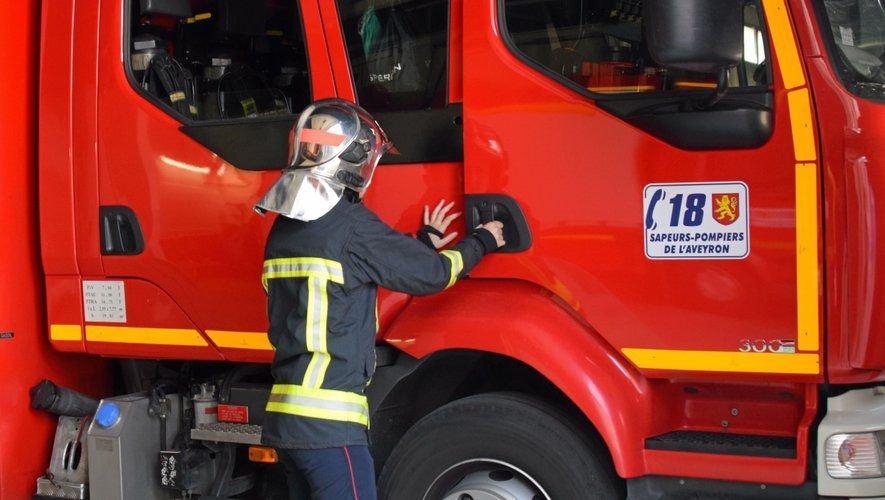 Les pompiers des centres de secours de Naucelle, Baraqueville et Rodez sont intervenus.
