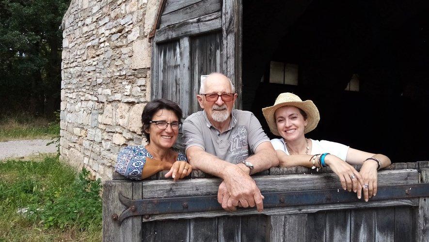 Solveig Letort et Léon Maillé en compagnie de Sophie Jovillard.