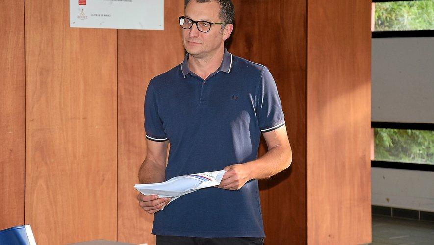 Xavier Alric, président du club de basket-ball de Rodez.