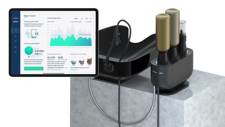 L'Oréal et Gjosa ont présenté la technologie L'Oréal Water Saver à l'occasion du CES 2021.