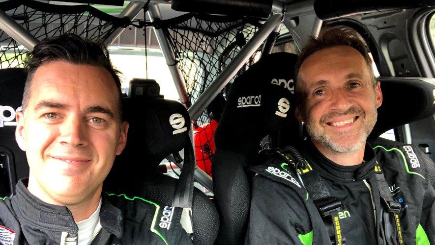 """Nicolas Théron (à gauche sur la photo) et Yanis Desangles s'apprêtent  à vivre  un """"rêve"""" lors du prochain rallye Monte-Carlo."""