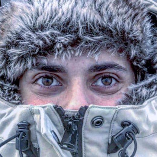 Les yeux habités par la passion pour la nature et le grand froid !