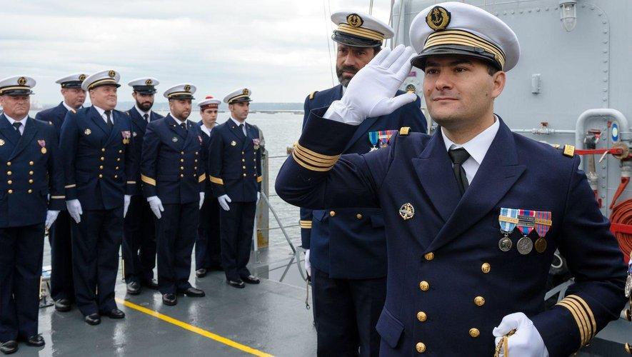 Florian El-Ahdab lors d'une prise de commandement en 2015