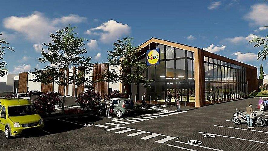 Le projet pour lequel Lidl souhaite déménager au rond-point des Deux-Stades ressemblerait à celui-ci.