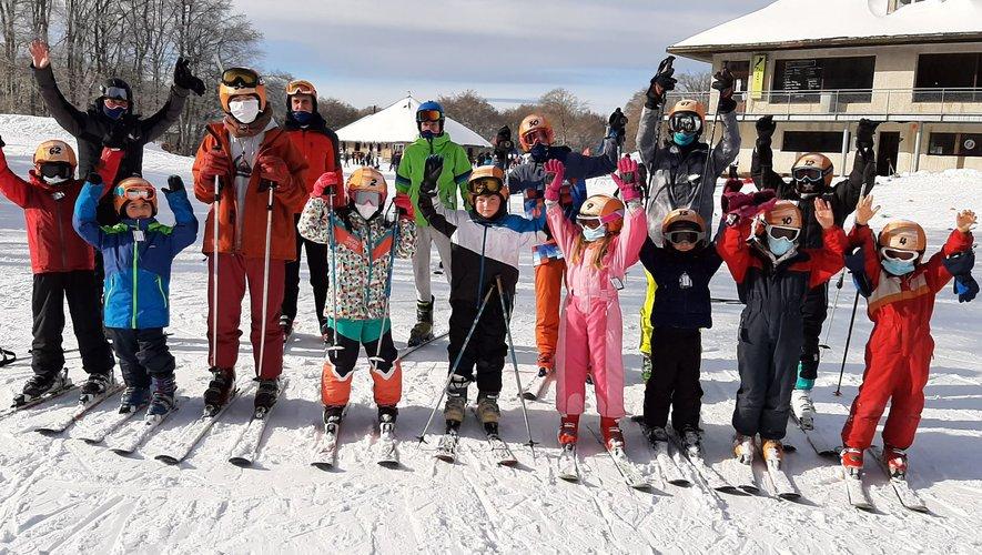 Du ski à Laguiole tous les samedis avec le ski club Barrézien du nord-Aveyron.
