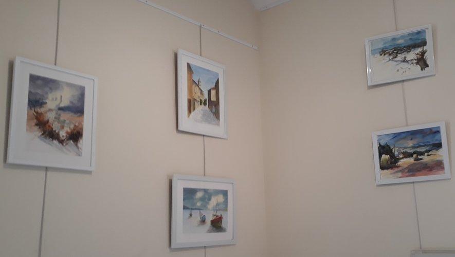cinq tableaux parmi la quarantaine d'exposés