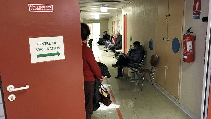 Les équipes soignantes ont vacciné à tour de bras, ce mercredi, à l'hôpital de Millau.