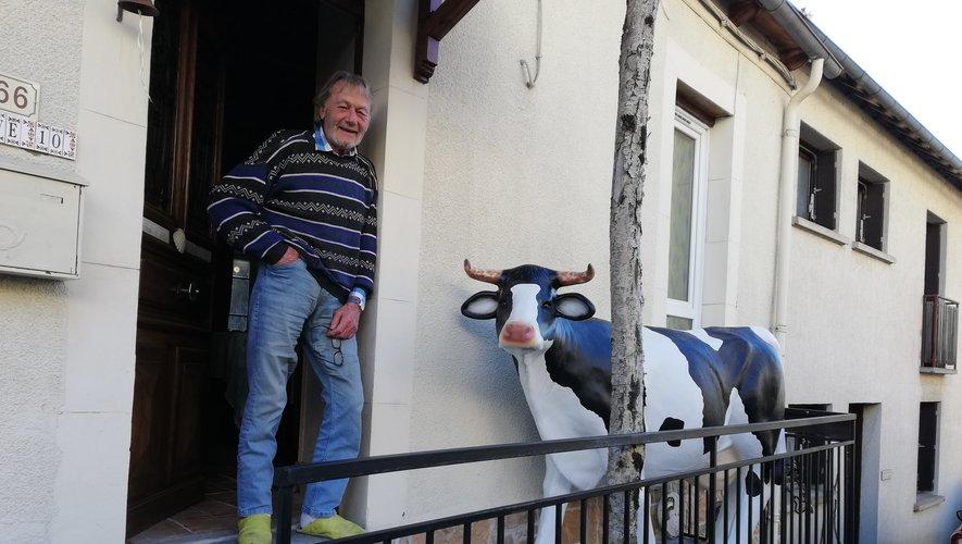 Une belle vache au balcon !