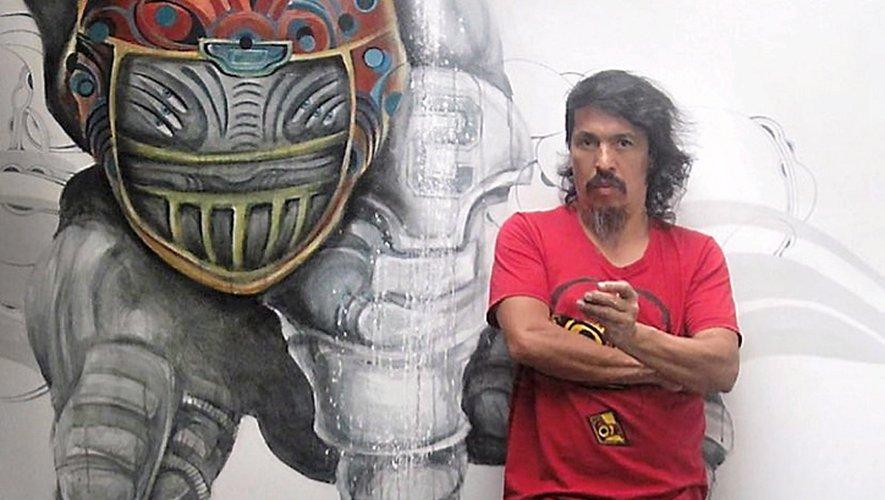 L'artiste colombien de street art, Edgar Rodriguez, dit Rodez.