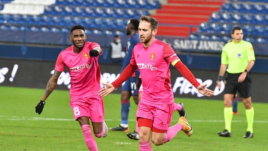 Pierre Bardy a inscrit les deux buts du Raf sur la pelouse caennaise, samedi soir.
