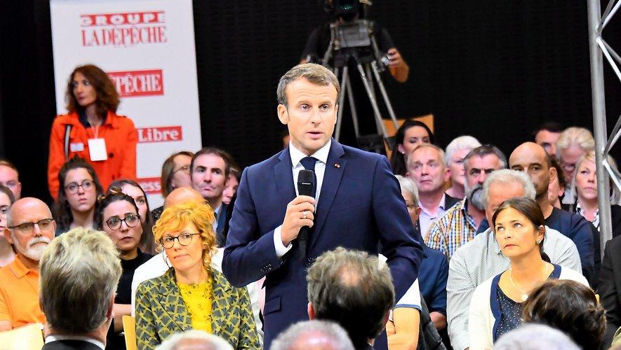 Le président Macron , ici lors de sa venue à Rodez en octobre 2019, pourrait faire l'annonce mercredi
