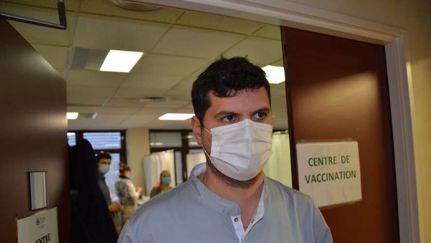 Sébastien Combes en première ligne dans la campagne de vaccination.