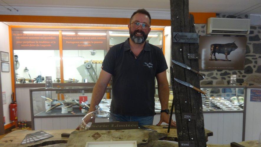 Benoît Mijoule, coutelier à Laguiole, membre du syndicat qui a déposé la candidature du couteau laguiole.