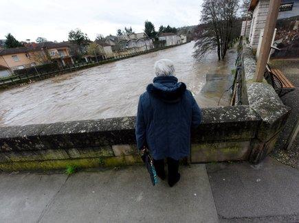 Mardi, la décrue de l'Aveyron était en cours à Villefranche.