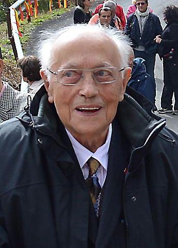 Georges Angles lors de la visite de la délégation chinoise au Viaduc du Viaur.