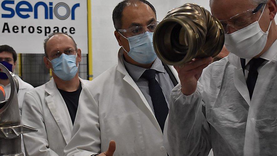 Le Millavois Xavier Brengues a, tout récemment, accueilli Bruno Le Maire pour une visite de l'usine Senior Aerospace Calorstat. Le ministre de l'Economie était accompagné par Agnès Pannier-Runacher, ministre déléguée à l'Industrie.