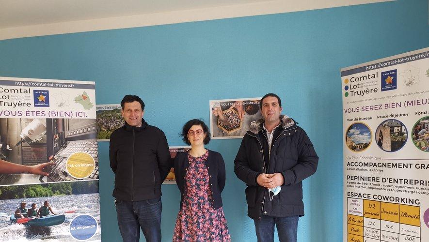 Nicolas Bessière et  Éric Picard ont accueilli la nouvelle responsable  du Pôle économique.