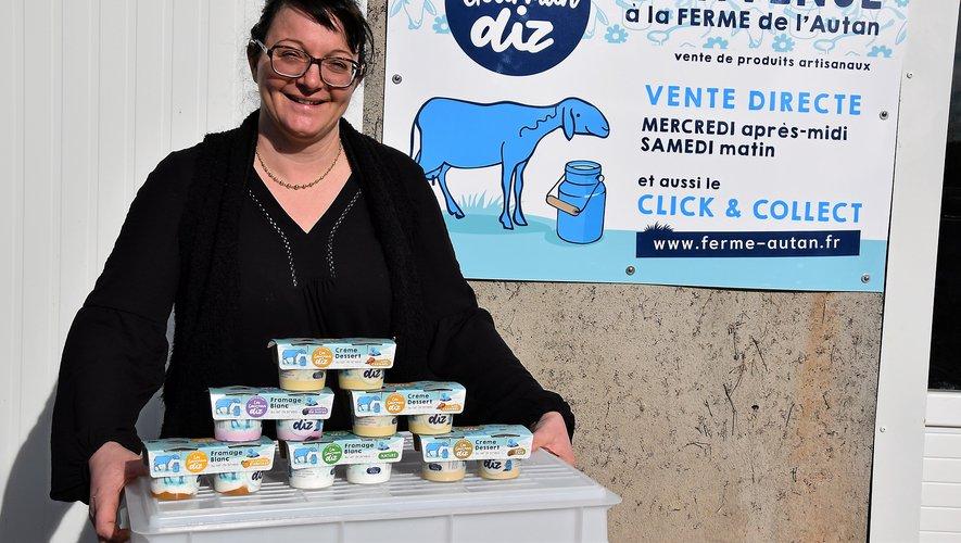 """Adeline Canac propose, """"pour l'instant"""",  une gamme de six produits différents au lait  de brebis : trois crèmes dessert et autant  de fromages blancs lissés. Rui Dos Santos"""