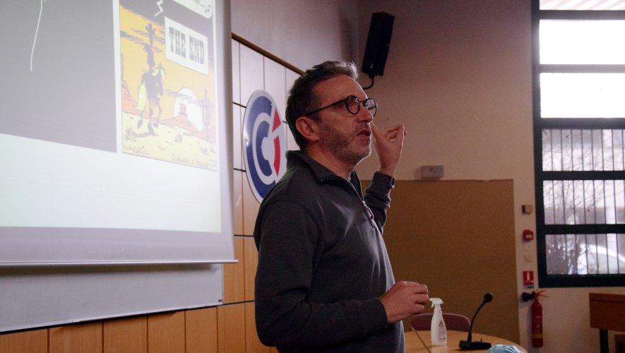 Sébastien Bras, en conférence à l'EGC de Rodez.