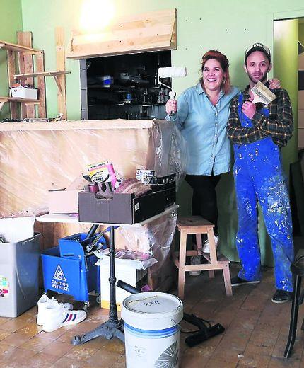 Le couple de restaurateura commencé des travauxdébut février.