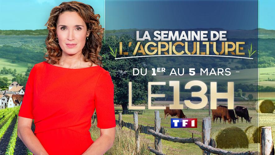 La journaliste villefranchoise va consacrer une page spéciale quotidienne dans son JT de 13 heures sur TF1, du lundi 1er au vendredi 5 mars, à la thématique de l'agriculture.