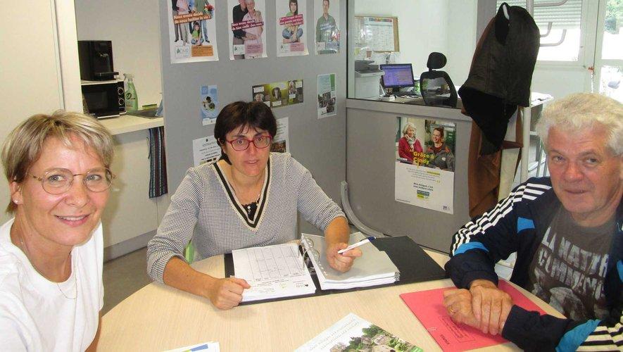 Organisation du travail, dans les locaux de l'ADMR.