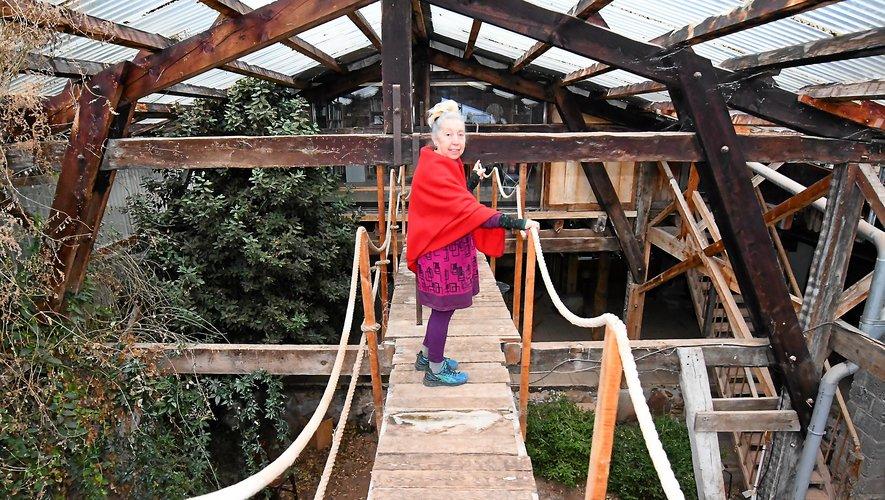 Des cordages, une passerelle, une structure de bois… Tout l'esprit de la Menuiserie.