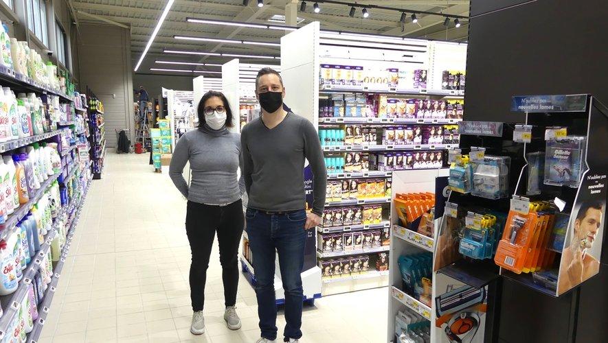 Johana et Boris dans une des nouvelles allées