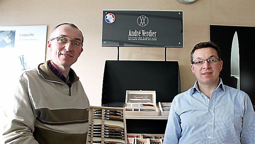Après Laguiole, Aubry Verdier,  à gauche, président de l'association thiernoise Couteau laguiole Aubrac Auvergne, vient de déposer sa candidature pour obtenir l'Indication géographique.