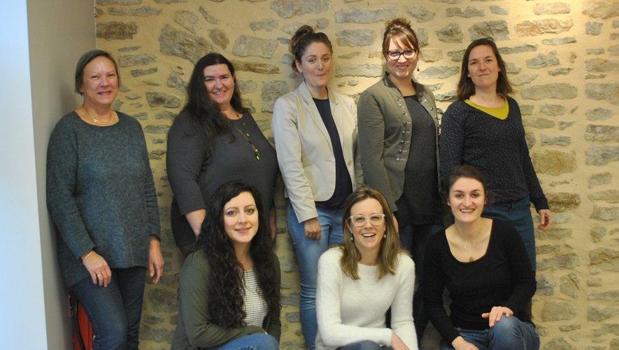 L'équipe de l'office de tourisme  Des Causses à l'Aubrac