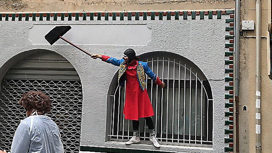 Pendant le confinement, les clowns avaient animé Millau.Archive