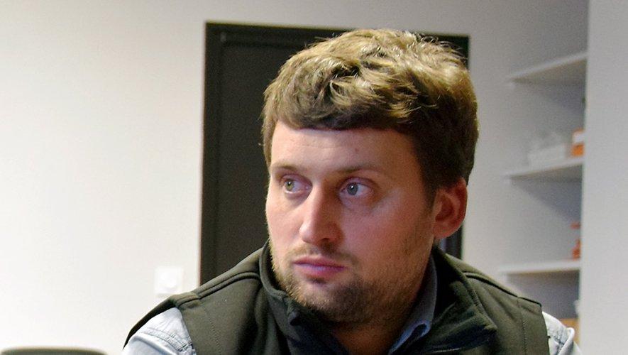 Romain Déléris, le président départemental des JA.