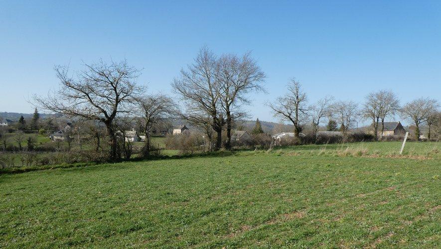 Le terrain concerné aux Gardes  avec les habitations très proches.