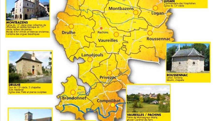 Les communes du plateau de Montbazens et leurs particularités.