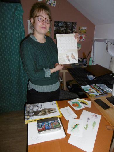 Lisa Chauvin, illustratrice et peintre naturaliste